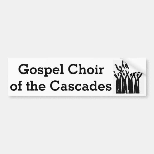 Coro del evangelio de la pegatina para el pegatina para coche