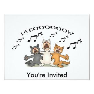 Coro del gato invitación 10,8 x 13,9 cm