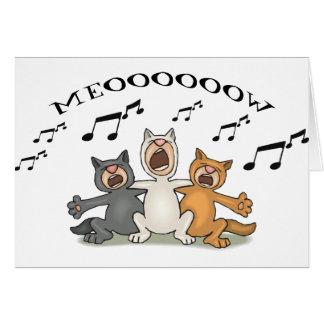 Coro del gato felicitacion