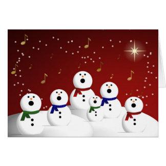 Coro del muñeco de nieve felicitación