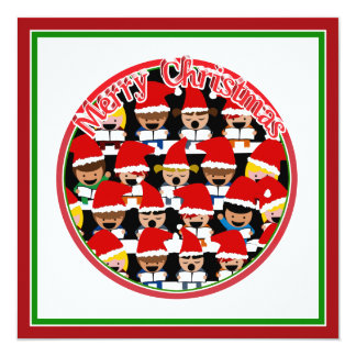 Coro del navidad del bebé - Felices Navidad Invitación 13,3 Cm X 13,3cm