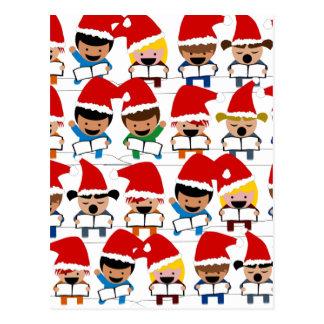 Coro del navidad del bebé tarjetas postales