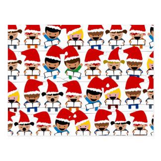 Coro del navidad del bebé tarjeta postal