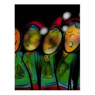 Coro del navidad tarjeta postal