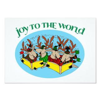 Coro del reno - villancicos del coro del navidad invitación 12,7 x 17,8 cm
