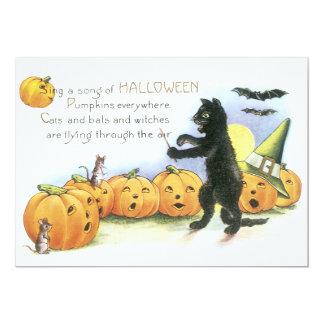 Coro principal de Halloween de la linterna de Jack Invitación 12,7 X 17,8 Cm