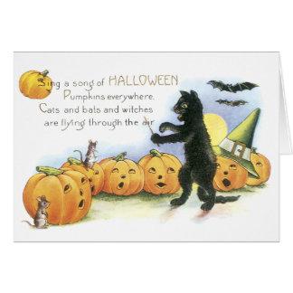 Coro principal de Halloween de la linterna de Jack Tarjeta De Felicitación