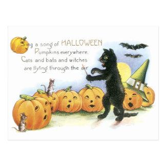Coro principal de Halloween de la linterna de Jack Postal