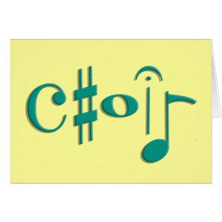 coro tarjetas