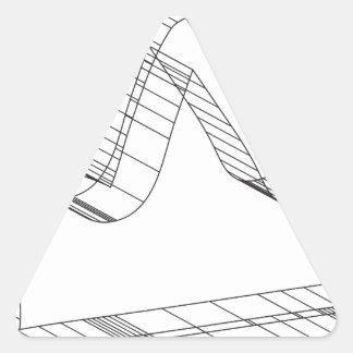 corona 3d pegatina triangular