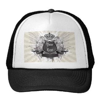 Corona, alas y modelo del escudo gorras