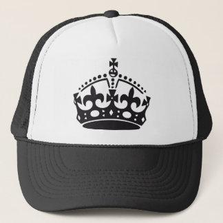 corona británica real gorra de camionero
