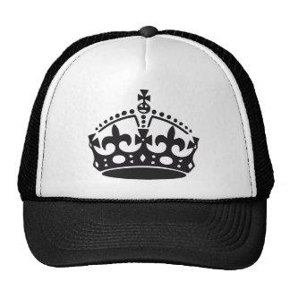 corona británica real gorros