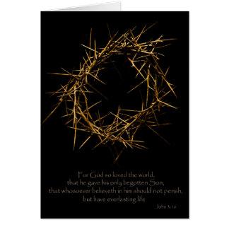 Corona de espinas tarjeta de felicitación