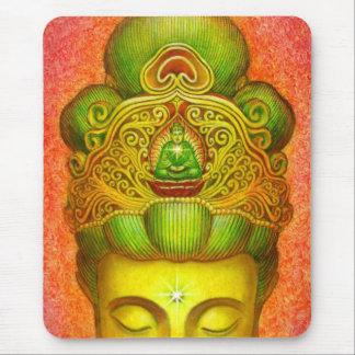 Corona de Kuan Yin de la diosa Alfombrilla De Ratón