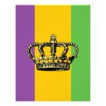 Corona de la bandera del carnaval flyer personalizado