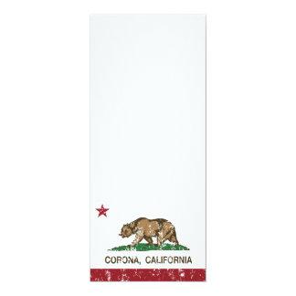Corona de la bandera del estado de California Invitación 10,1 X 23,5 Cm