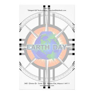 Corona de la estrella del Día de la Tierra Papelería Personalizada