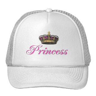 Corona de la princesa en rosas fuertes gorros bordados