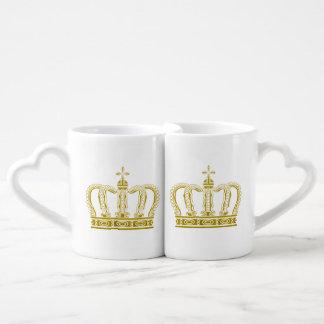 Corona de oro + sus ideas set de tazas de café