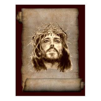 Corona del Jesucristo de espinas en voluta Postales