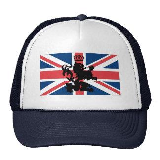 Corona del león de Union Jack Gorras De Camionero