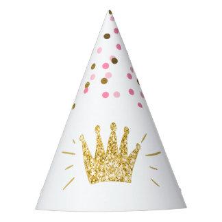 Corona del oro del rosa del gorra del papel de