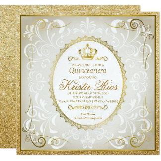 Corona del oro, elegante, invitación de