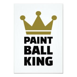 Corona del rey de Paintball Invitación 8,9 X 12,7 Cm