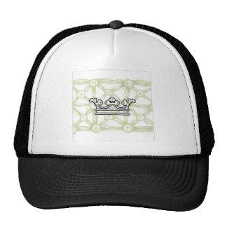 Corona en modelo del fondo gorra