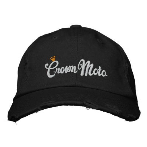 Corona Moto (escritura original) Gorra De Beisbol