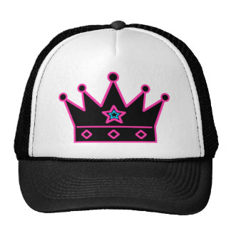 Corona negra con la estrella azul gorras de camionero