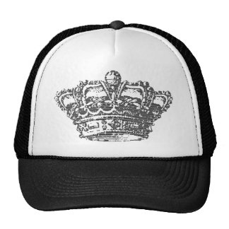 Corona negra gorros bordados