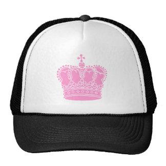 Corona real - rosa gorros bordados