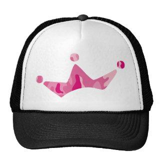 Corona rosada de Camo Gorras De Camionero