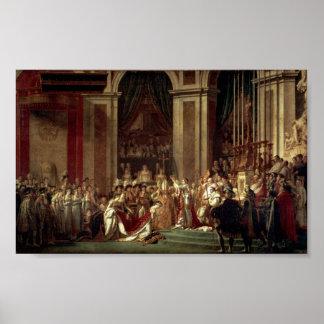 Coronación de Napoleon de Jacques-Louis David Poster