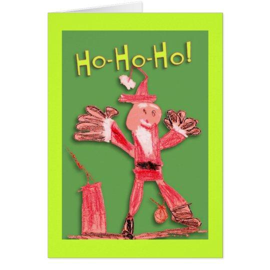 Corra la tarjeta de Navidad de Santa
