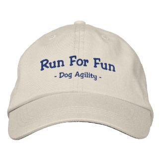 Corra para el gorra bordado agilidad del perro de