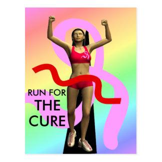 Corra para la postal de la conciencia del cáncer