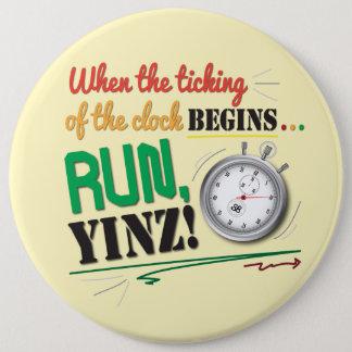 ¡Corra, Yinz! Diseño del Pin del maratón Chapa Redonda De 15 Cm