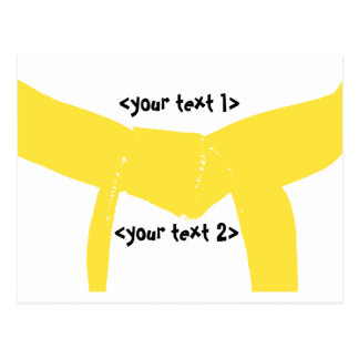 Correa amarilla de los artes marciales postal