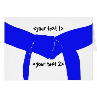 Correa azul clara de los artes marciales tarjeta pequeña
