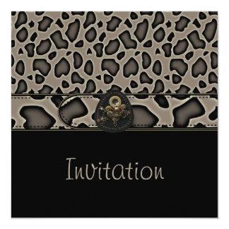 Correa de estampado de animales tan salvaje del invitación 13,3 cm x 13,3cm