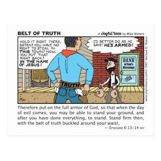 Correa de la postal de la verdad