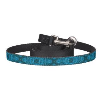 Correa de perro negra y azul    del caleidoscopio