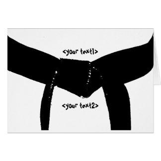 Correa negra de los artes marciales tarjeta pequeña