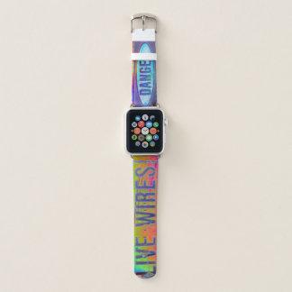 Correa Para Apple Watch Advertencia colorida