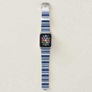 Correa Para Apple Watch Añil mezclado moderno y rayas blancas