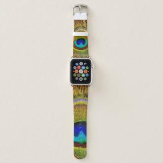 Correa Para Apple Watch Arte de la pluma del pavo real