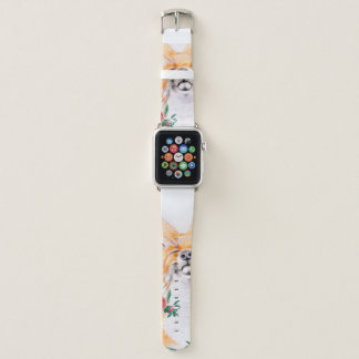 Correa Para Apple Watch Astuto feliz y rosas